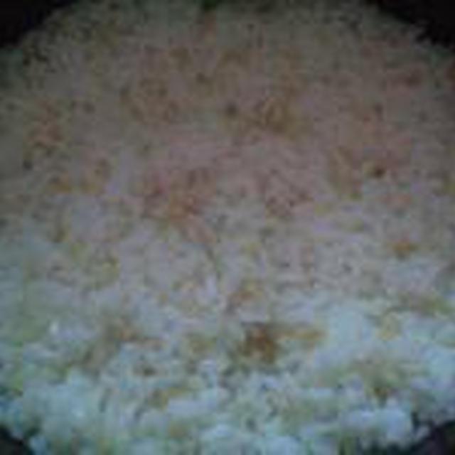 湯立てで白米(679)。。。茨城県産 奥久慈の棚田のコシヒカリ特別栽培米うまかっぺJA茨城みどり玄米(あいざわ米店)さて何でしょ???コシヒカリ白米(あいざわ米店)