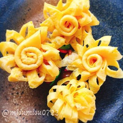 【レシピ動画】お花の卵焼き