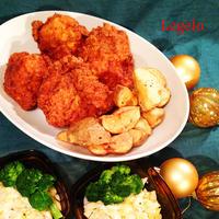 クリスマス フライドチキン 柔らか鶏胸肉とスパイスハーブ♪