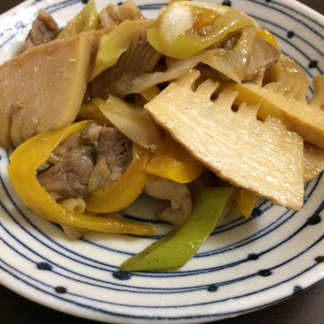 豚肉と筍のオイスター炒め
