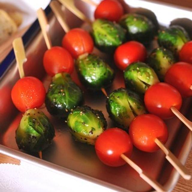 芽キャベツとプチトマトのピック