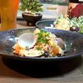✽.。.鶏と蛤の炊き込みご飯と天麩羅.。.:*・゚