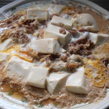 豆腐とエノキの卵とじ