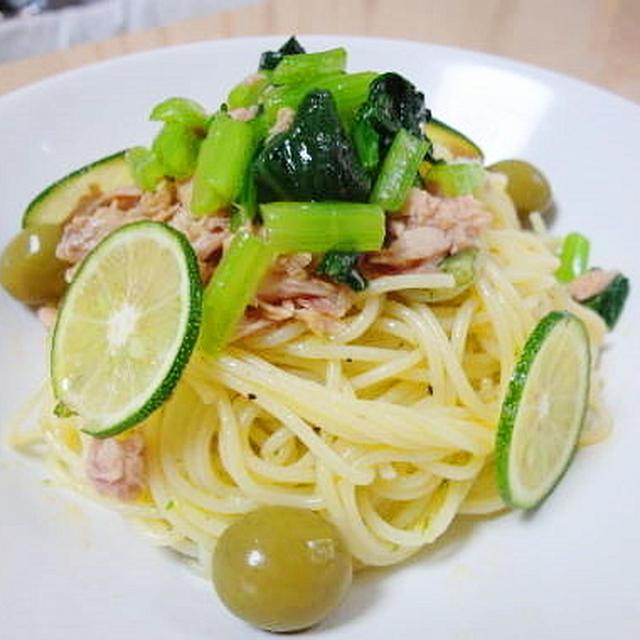 徳島県産すだちで☆すだちとツナのさっぱり冷たいスパゲッティ