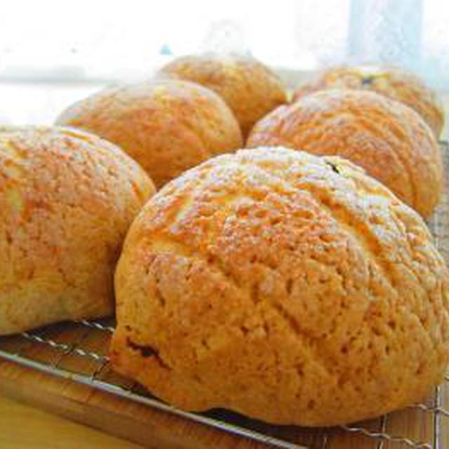 カフェオレクッキーのメロンパン♪ミニ食パンで照焼きつくねサンド♪