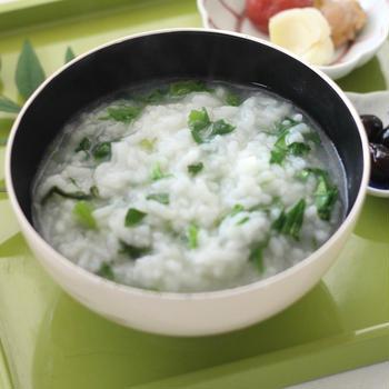 七草粥で朝ごはん