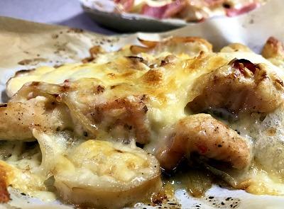 秋鮭とエリンギのチーズ焼き&京君ママのハロウィンお稲荷さん♪