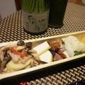 アオリイカの柚子塩麹漬け、すくい豆腐の河豚葱餡、紅むすめの芋ご飯