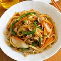【レシピ】新生姜がポイント!パパッと焼きうどん