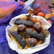 ハロウィン!魔女のお家のおやつ♡マロングラッセと甘栗のチーズケーキ♪