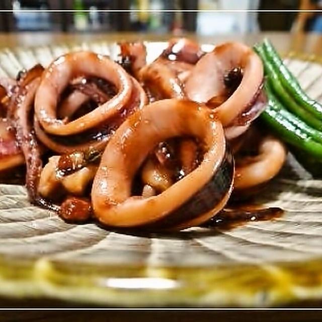 ヤリイカの山椒風味甘辛煮