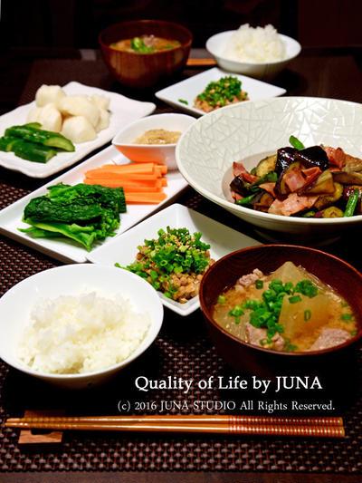 野菜多めの和の食卓