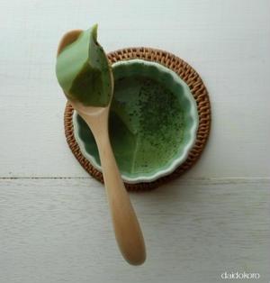 フルフル抹茶甘酒寒天(豆乳使用)
