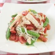 トマトとサラダチキンの洋風そうめん by chikaさん
