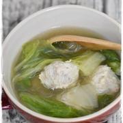 作りおき肉団子で作る簡単!鶏団子と白菜のだし煮スープ