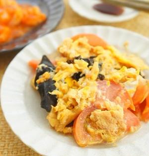 【モニター】本みりんでふっくら♪トマトときくらげのオイスター卵炒め