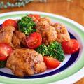 若鶏の竜田揚げと彩り野菜のハニーマスタードソース♪ニッスイレシピ by みぃさん