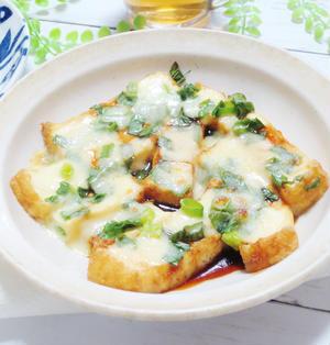 簡単☆トースターで♪厚揚げ豆腐のオイスターチーズ焼き