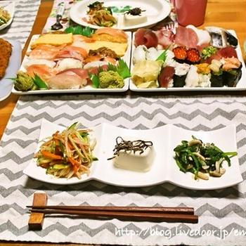 寿司の献立