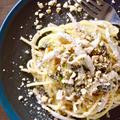 #586 白魚とふきのとう、カシューナッツのクリームスパゲッティ