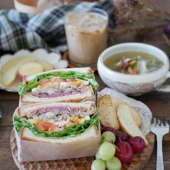 プルドポークのサンドイッチ