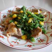 鶏肉と菜の花の炒め物