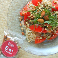 そうめんで和風イタリアン!トマトとアーモンドの冷製カッペリーニ風。