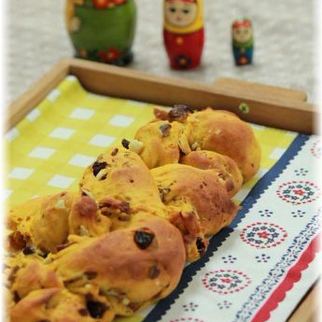 秋の三つ編みパン。
