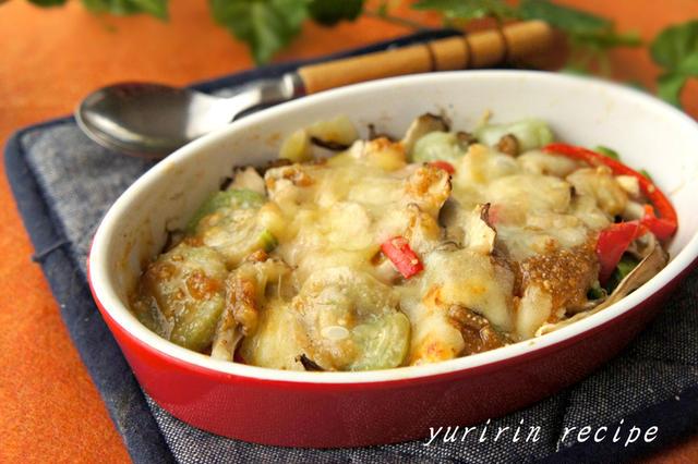 ヘチマのごま味噌チーズ焼き