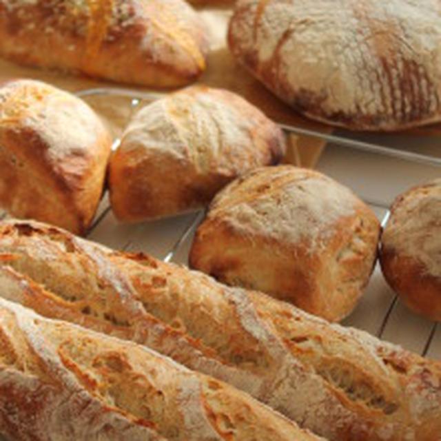今朝のハードパンたち、とシャンパーニュロゼで☆