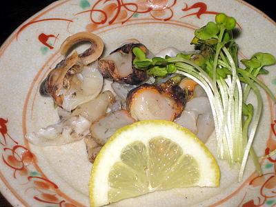 つぶ貝の酒肴2品