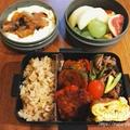 ピーマンの肉詰め&牛肉とセロリのオイスター炒めの松茸ごはんお弁当 by manaさん