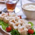 プリプリ海老がたっぷりのジャンボ海老シュウマイの晩御飯 by shokoさん