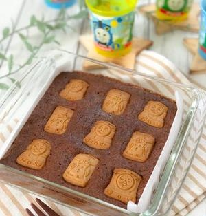 【レシピ】レンジ&ホットケーキミックスで子ども喜ぶ簡単チョコケーキ