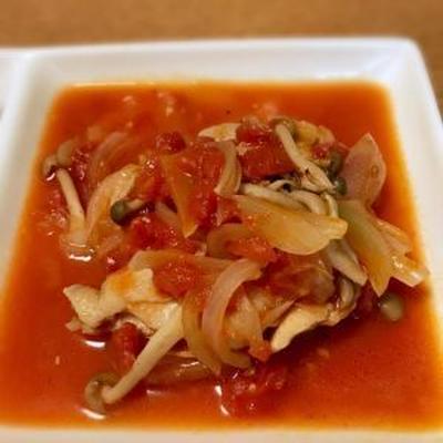 GABANクローブでチキンのトマト煮