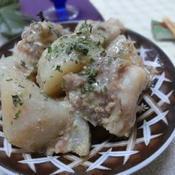 里芋と豚バラのごま味噌煮