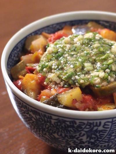 たっぷり野菜の『夏丼』 ~ 夏バテ対策はこれで決まり!