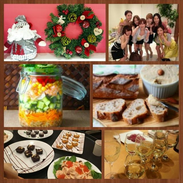 12/7料理教室*クリスマス女子会/持ちより&さし入れで喜ばれる!フード3品と米粉のスイーツ