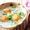 冷凍たこ焼きをアレンジで高級な味に!?しんじょ風スープの作り方。