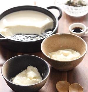 レンジ豆腐と手作り豆腐と。