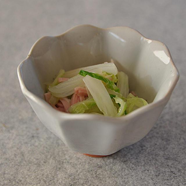 白菜とハムのゆず胡椒和え