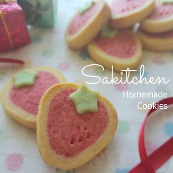 かわいさ反則級!いちごミルククッキーの作り方