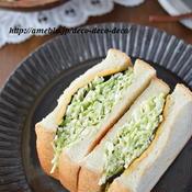 わさびバター×海苔×春キャベツのサンドイッチ(和風の沼サン)