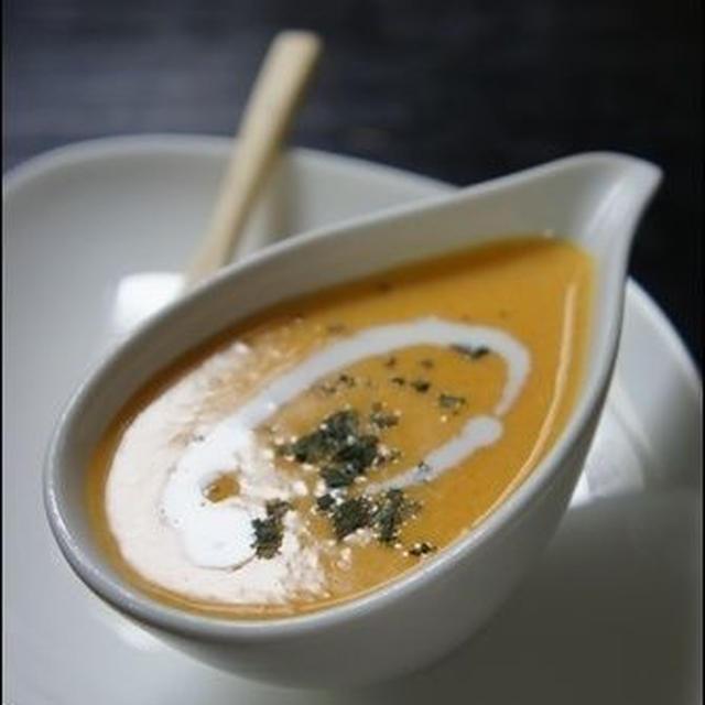 【バターナッツレシピ】かぼちゃのポタージュ。