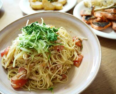 ひんやり!ツナとトマトのスパゲティ