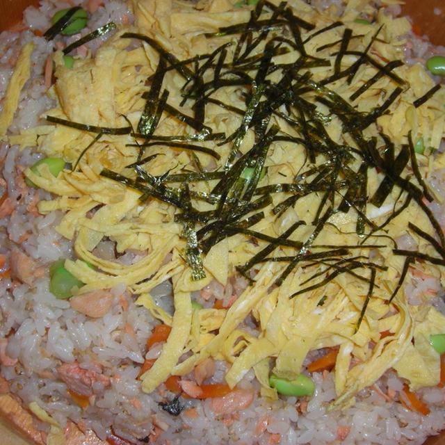 鮭のアラで散らし寿司
