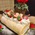 一足早くノンオイルシフォン生地のクリスマスロールケーキ・・そしてお出しの効いたお雑煮