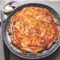 驚くほど激ウマになった♪もやしと卵と片栗粉とチーズ焼き