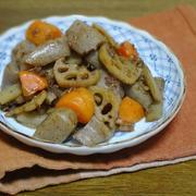 こんにゃくと根野菜のおかか煮