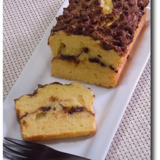 シナモンとチョコチップのしっとりパウンドケーキ